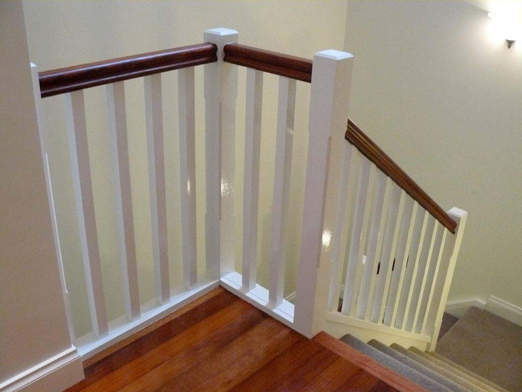 Balustrade Consists Of Bevelled 90x90mm Bevelled Posts, 42x42mm Balusters  And Traditional Style Handrail.