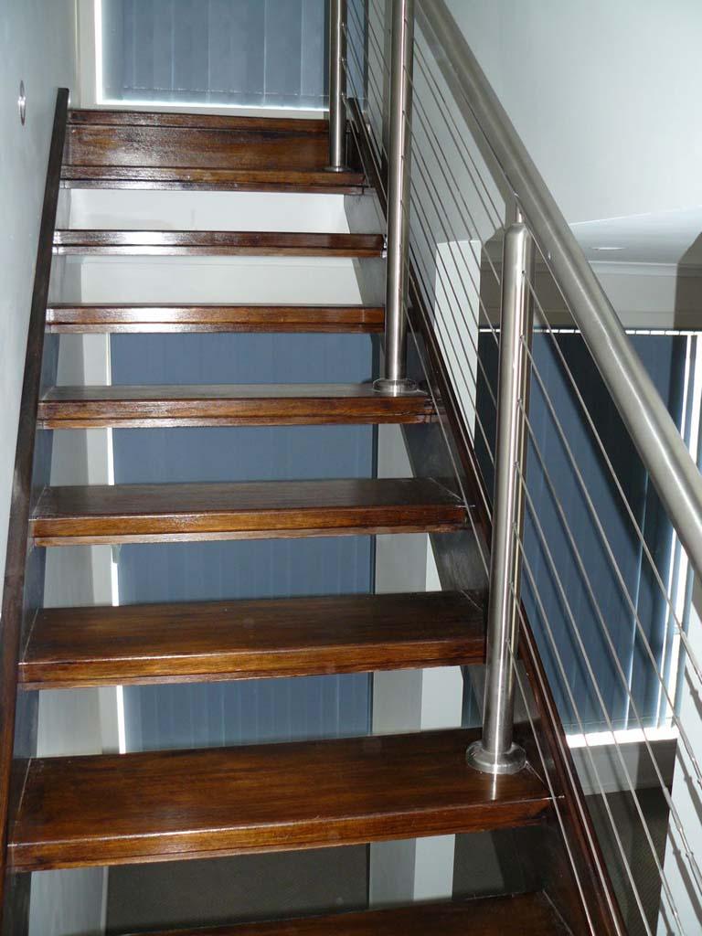 staircase modern balustrade steel wire coastal. Black Bedroom Furniture Sets. Home Design Ideas