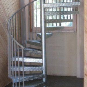 Industrial steel spiral staircase Geelong