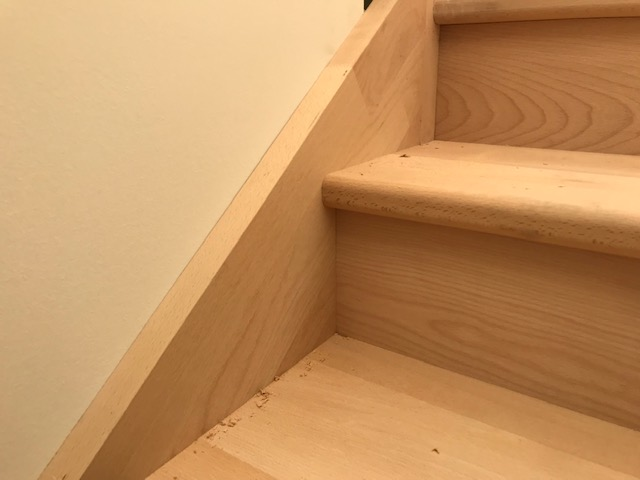 Staircase made with European Beech. (Staircase made by third party).